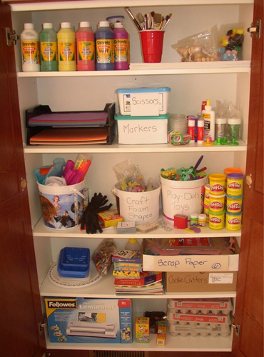 kitchen crafts in cupboard