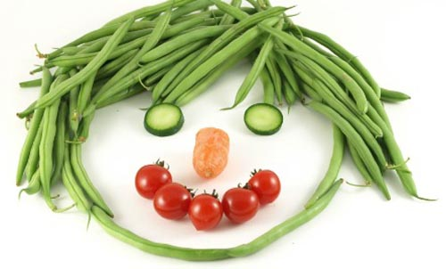 Kids Vegetable Face