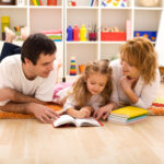 parents reading with child