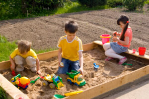Children in sand-box