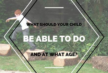 What Should Your Child be Able to do and at What Age?