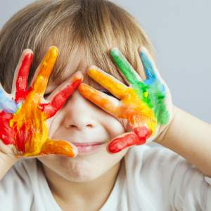 Getting crafty – whether this be painting outside, or colouring in at home.