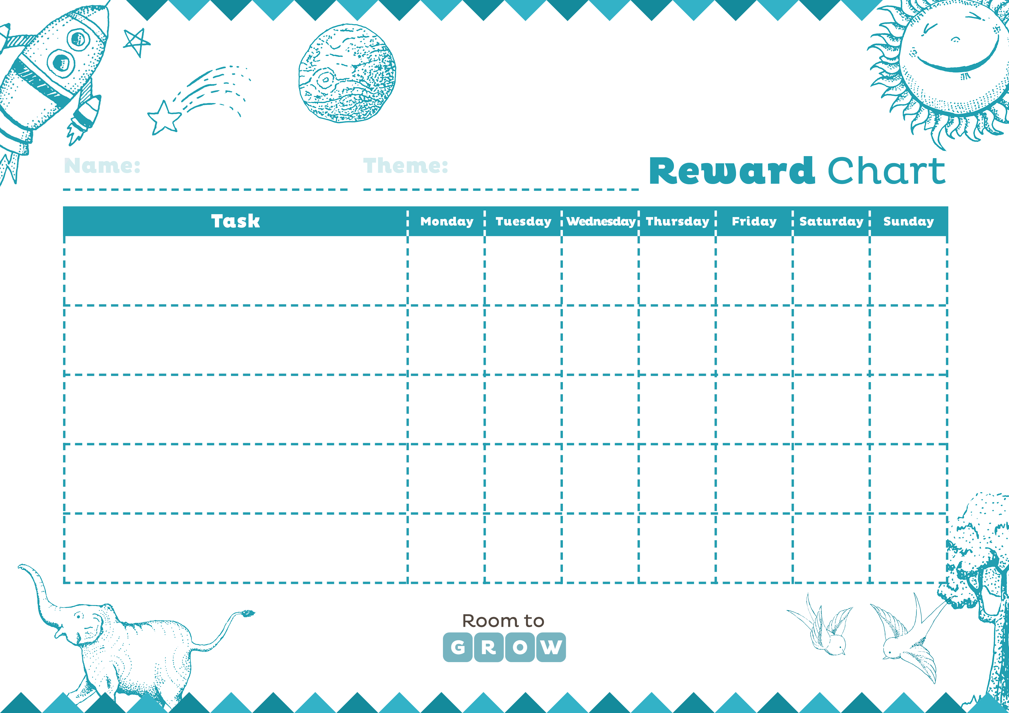 photo regarding Free Printable Reward Chart called Down load your Free of charge printable charts House toward Increase