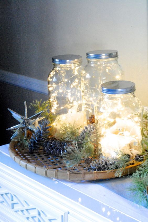 Christmas Charms with Glowing lights and foliage