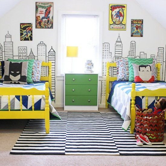 Batman and Superman themed Beds