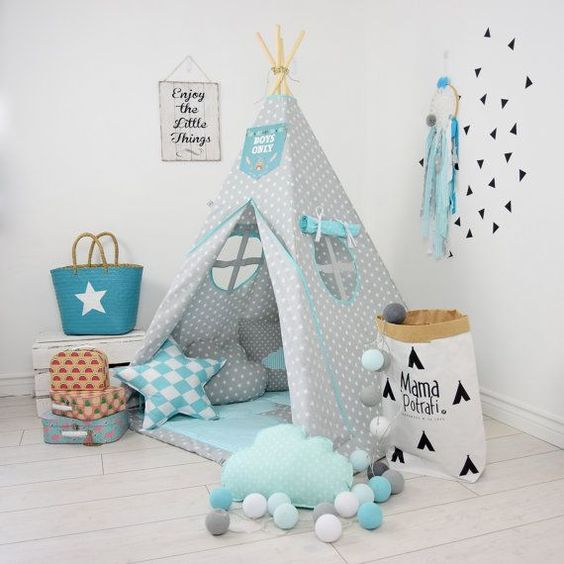 Teepee in a child's room
