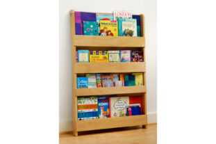 Open Facing Bookcase in Natural Finish - no letters