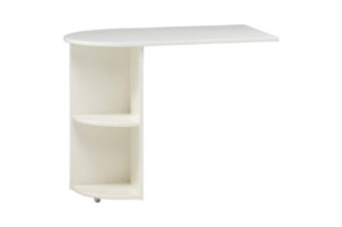 White pull out desk