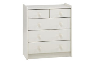 Solitaire White 2 + 3 Chest of Drawers