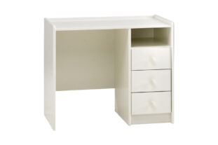 Solitaire White 3 Drawer Desk