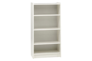 Solitaire White Tall Bookcase