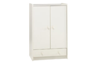 Solitaire White Low Wardrobe