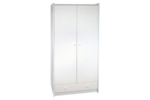 Solitaire White Tall Wardrobe