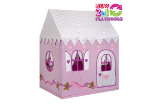2 in 1 Gingerbread Cottage and Sweet Shop Playhouse (Large)