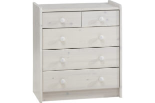 Solitaire  2 + 3 Chest of Drawers (Whitewash)