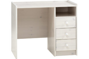 Solitaire 3 Drawer Desk (Whitewash)