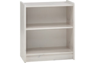 Solitaire Low Bookcase (Whitewash)
