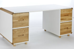 Stompa Radius Double Pedestal Desk (excluding doors)