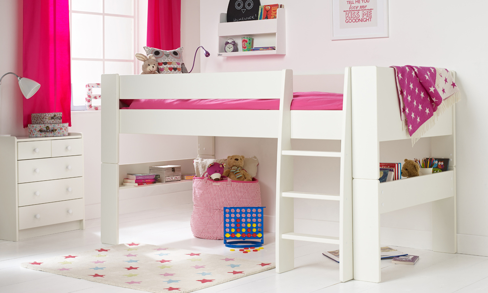 Solitaire White Mid Sleeper Bed Room To Grow