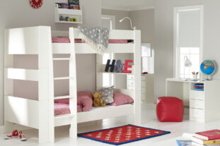 Solitaire White Bunkbed