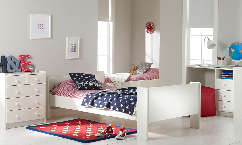 Solitaire White Bunk Bed For Sale Room To Grow