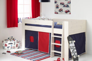 Solitaire Whitewash Midsleeper with Navy & Red Tent