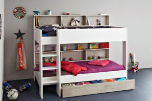 Tam Tam 3 White / Grey Bunk Bed