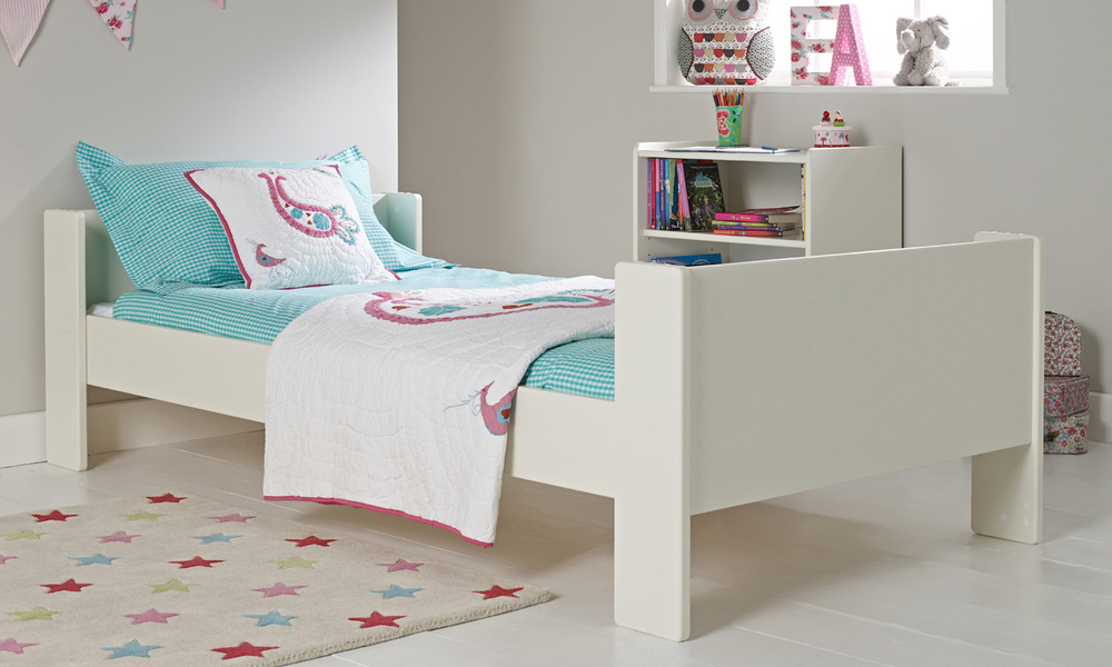 Solitaire White Single Bed Room To Grow