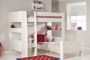 Solitaire White L-shaped Bunk Bed