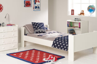 White single bed room set