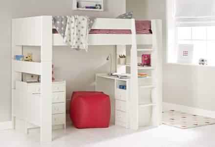 Solitaire Ultimate High Sleeper with Desk and Chest
