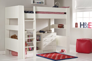 Solitaire Ultimate Storage High Sleeper with Chest and Bookcase
