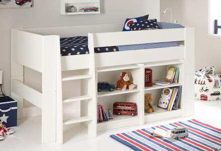 midsleeper and bookcases