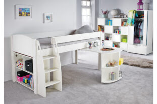Stompa UNO S 1A Midsleeper with Pull Out Desk and Open Cube