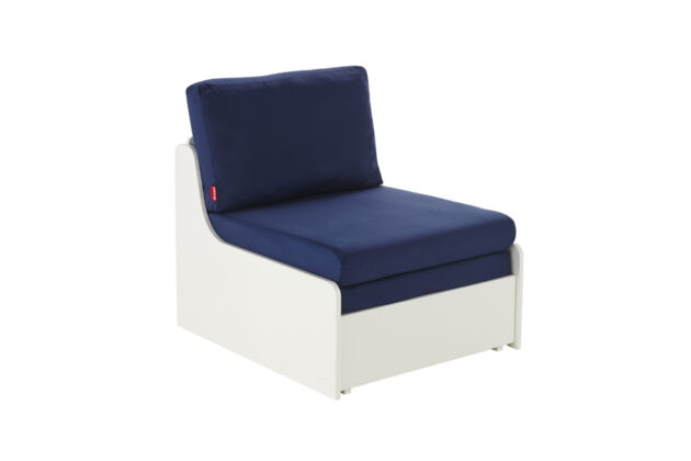 Blue chair bed