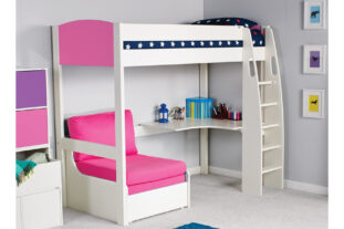 Stompa UNO S 5 Highsleeper with Desk & Chair bed
