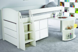Stompa UNO S 3AD Midsleeper with Pull Out Desk, Multi Cube & Chest