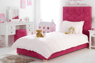 Princess Sparkle Upholstered Bed