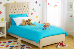 Over the Rainbow Upholstered Bed