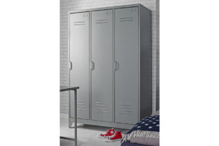Brooklyn Vintage Grey 3 Door Metal Locker