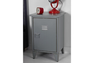 Brooklyn Vintage Grey Metal Bedside Table
