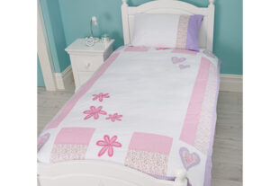 Hearts & Flowers Single Duvet Set