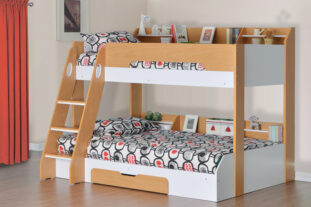 Flick Triple Bunk Bed - Maple
