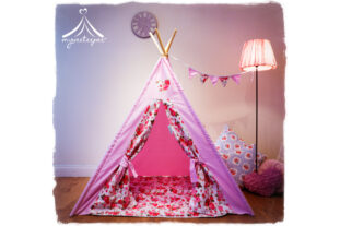 Evie-Rose Teepee, Play Mat & Bunting Set