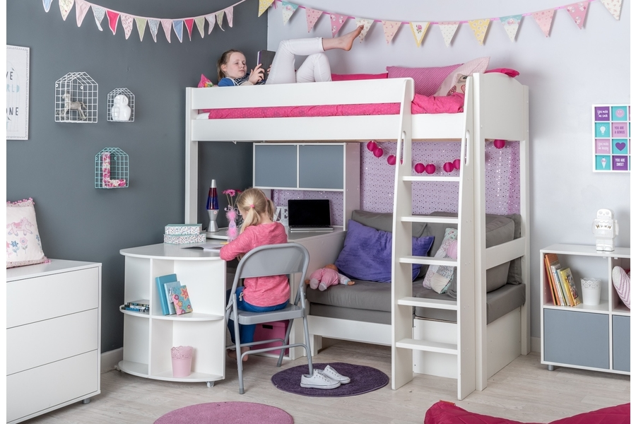 Uno S 28 Highsleeper With Sofa Bed Desk Hutch Amp Cube
