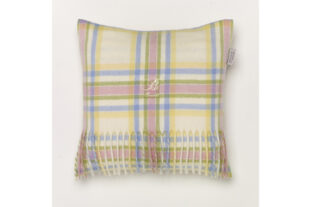 Pastel Menzies Check Baby Cushion