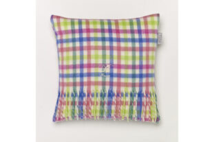 Candy Gingham Baby Cushion