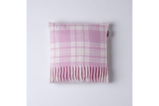Pink & White Menzies Check Baby Cushion