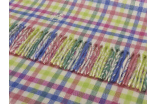 Candy Gingham Baby Throw