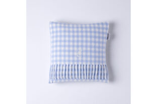 Blue & White Gingham Baby Cushion